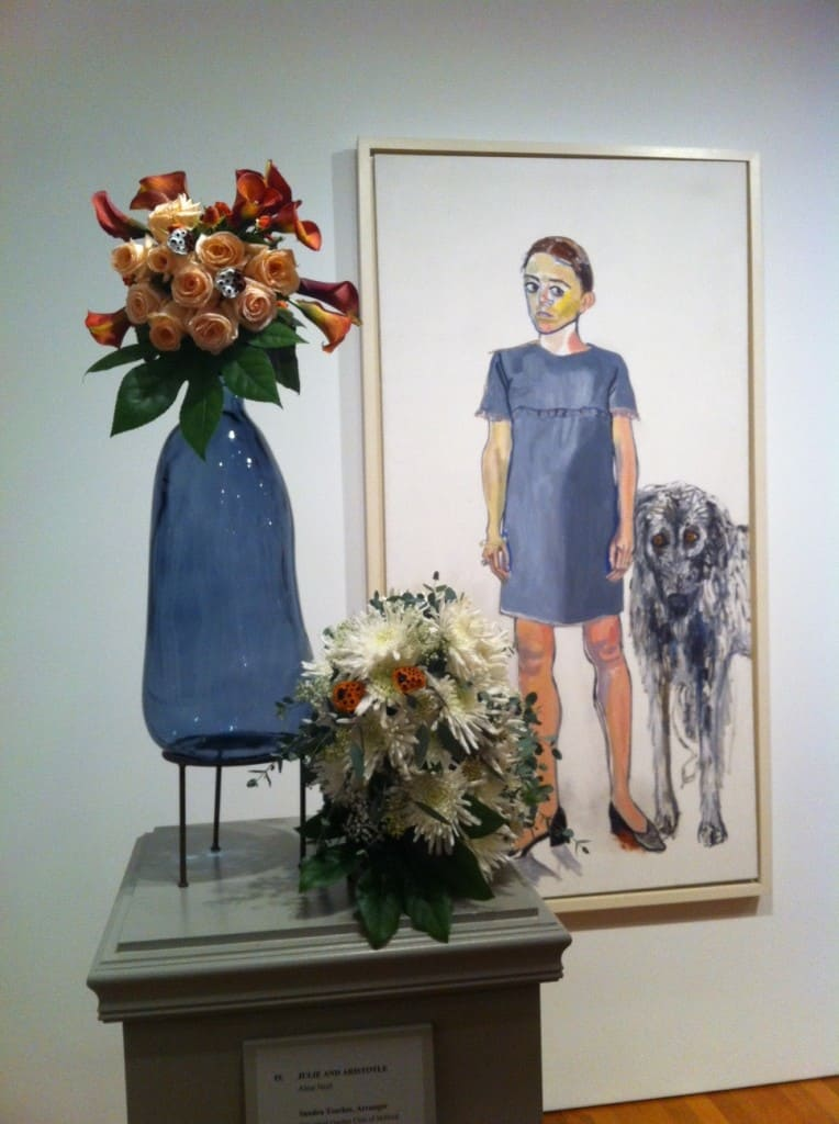 """Julie and Aristotle,"" Alice Neel Flowers by Sandra Tosches"