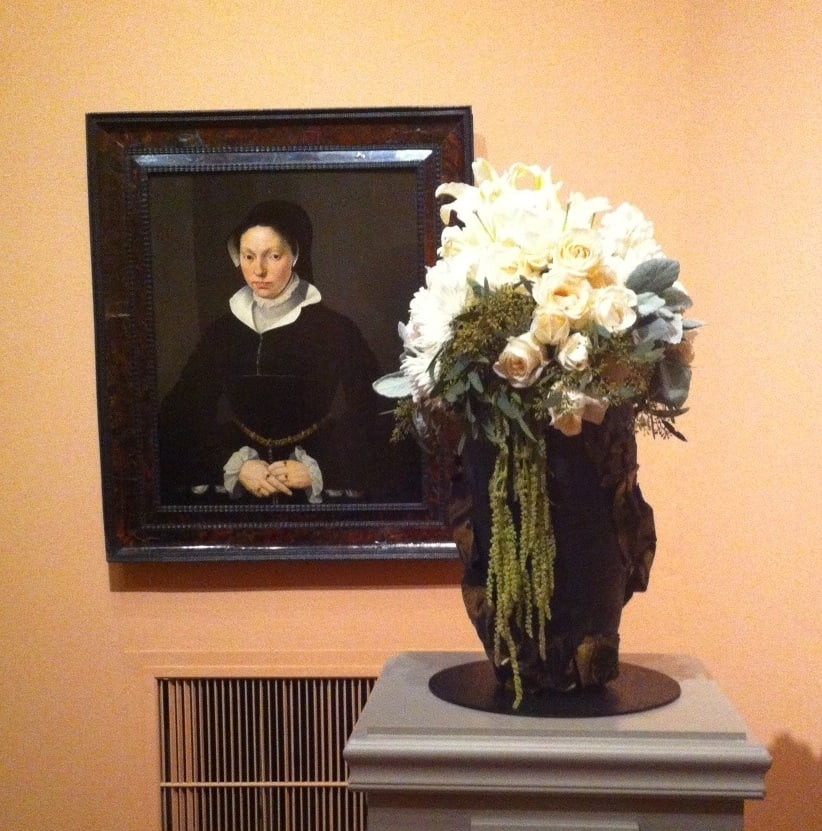 """Portrait of a Young Lady,"" att. Willem Key Flowers by Susan Detjens"
