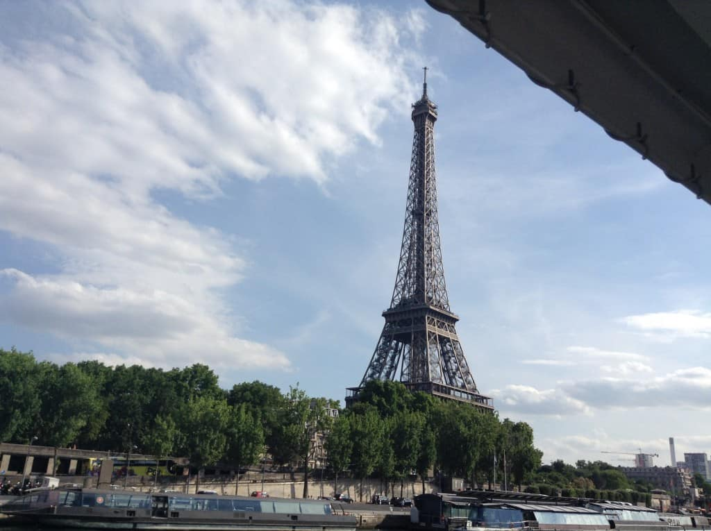 Eifle Tower, Paris, from the Seine River