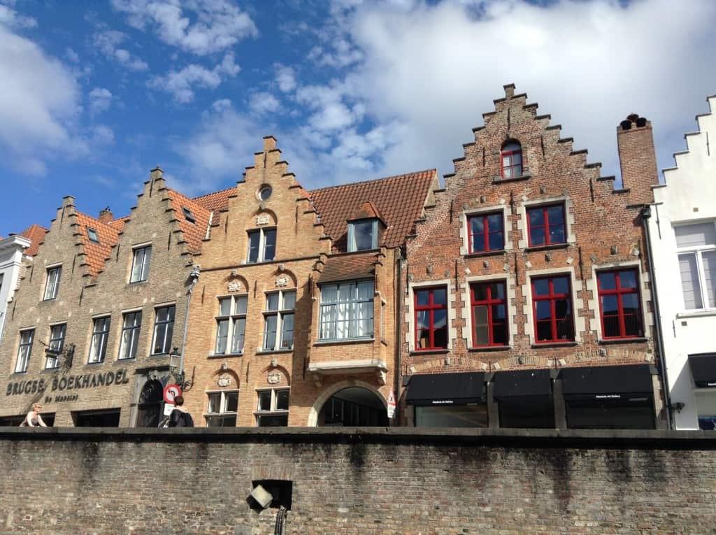 Medieval buildings in Brugge, Belgium
